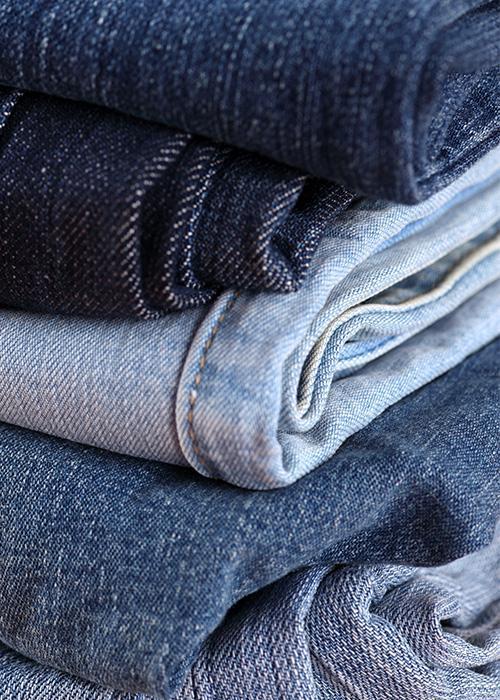złożona odzież - spodnie jeansowe